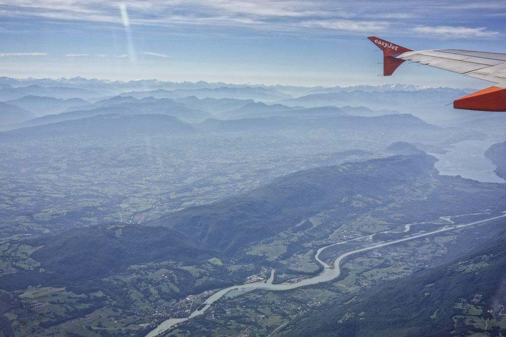 An EasyJet flight from the sky